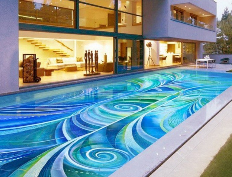 38+ Amazing Mosaic Pool Tile Ideas For Luxurious Pool Design