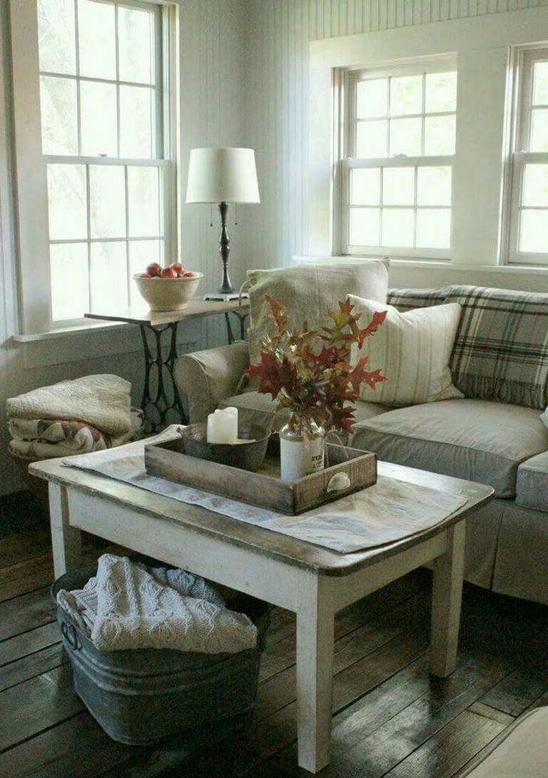 41 Comfy Small Farmhouse Rustic Living Room Decorating Ideas