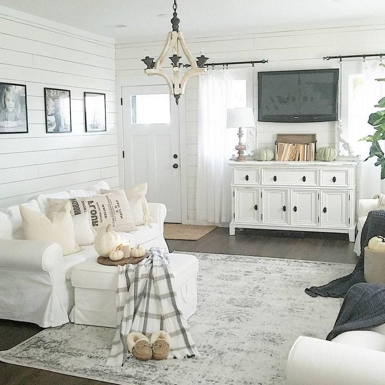 41 comfy small farmhouse rustic living room decorating