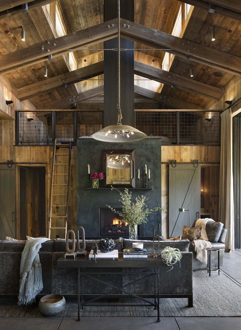 41+ Comfy Small Farmhouse Rustic Living Room Decorating ...
