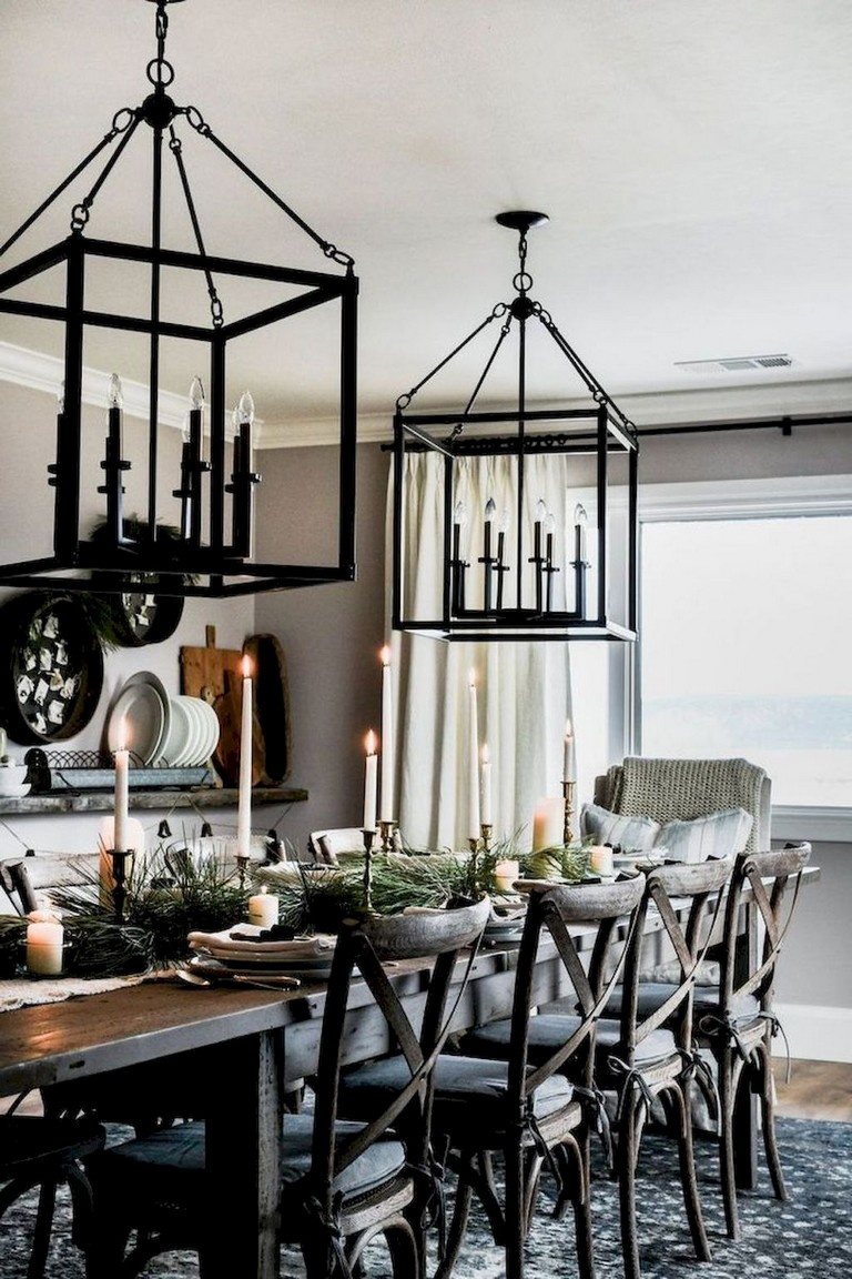 68+ Beautiful Modern Farmhouse Dining Room Design Ideas ...