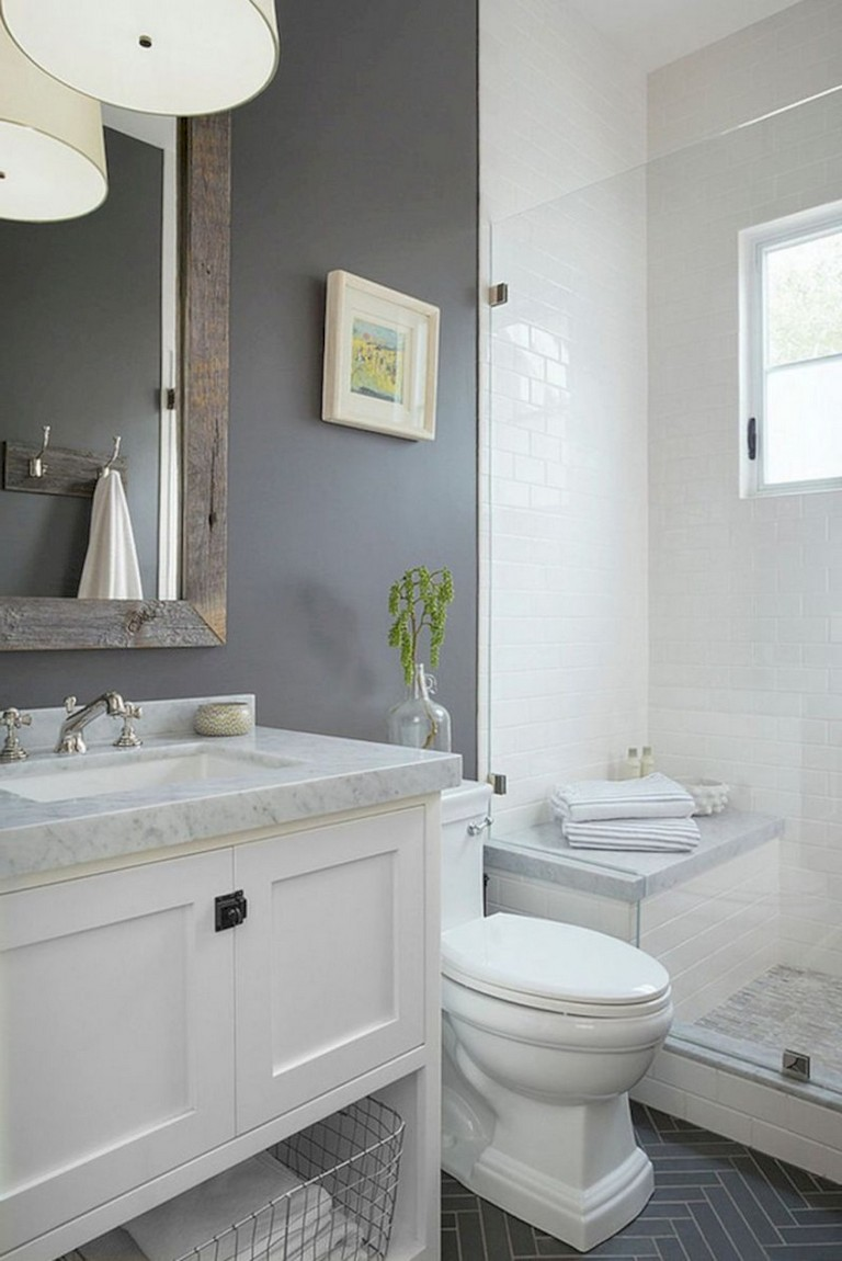 39+ Awesome Small Bathroom Remodel Inspirations Ideas ... on Small Bathroom Renovations  id=29860