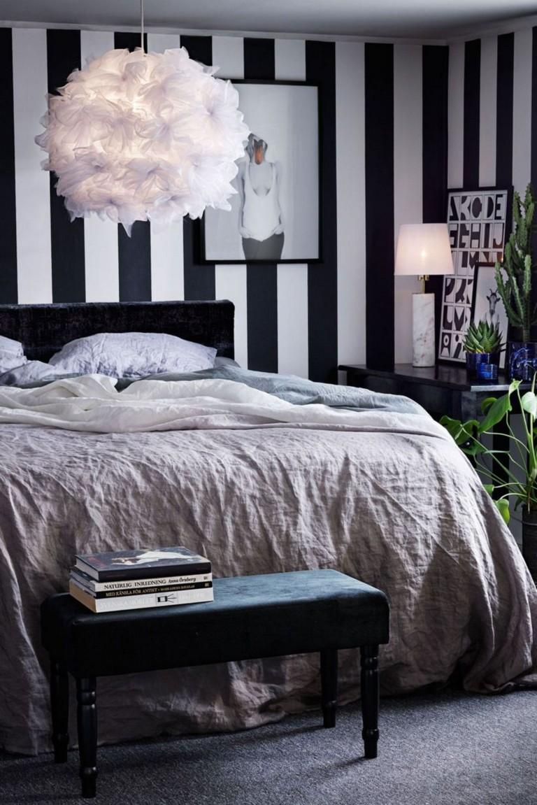 42+ BEST INSPIRING BLACK AND WHITE GEOMETRIC WALLPAPER IDEAS FOR BEDROOM
