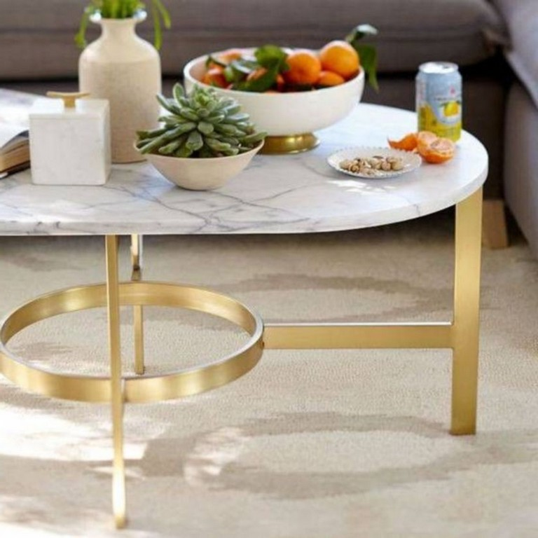45+ Lovely Marble Coffee Table Design Ideas Living Room